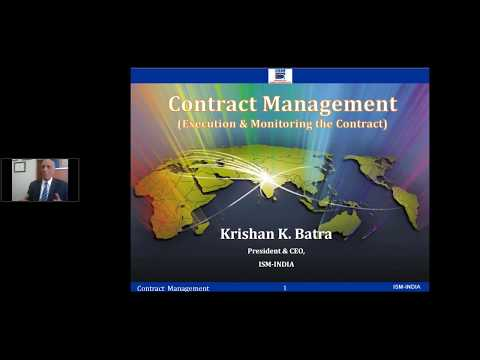 Webinar on Contract Management