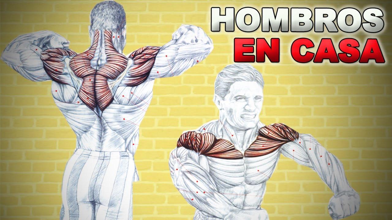 Entrenamiento De Hombros En Casa Con Mancuerna Y Gomas Youtube