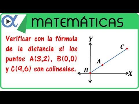Determinar si 3 puntos son colineales con la fórmula de distancia ...