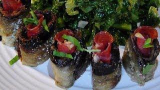 Eggplant Salami & Cheese Rollups