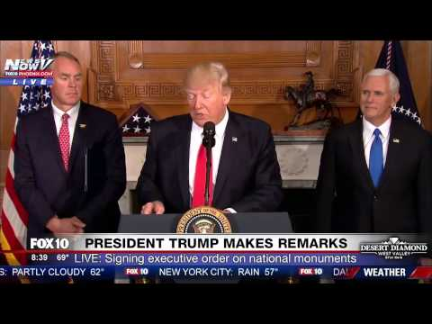 WATCH:  Trump Speaks & Signs CONTROVERSIAL Executive Order on Federal Lands (FNN)