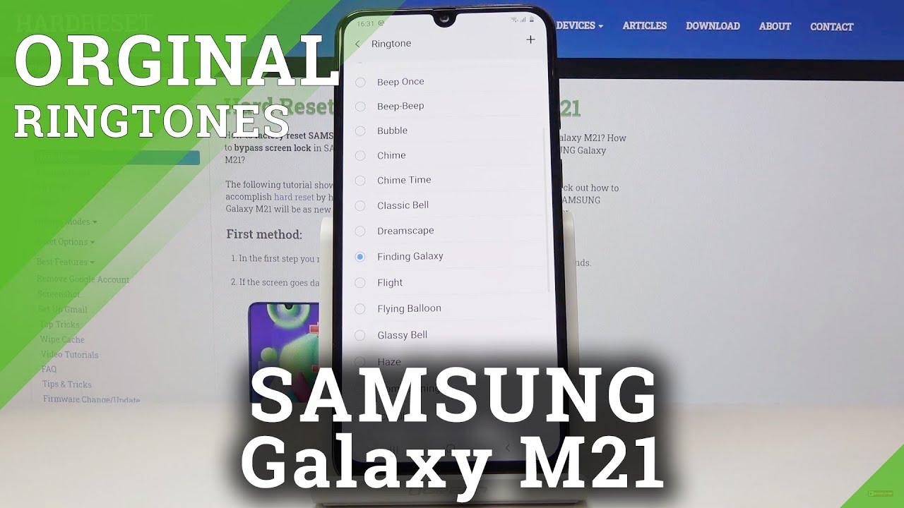 Ringtones SAMSUNG Galaxy M21 – Set Up Ringtone