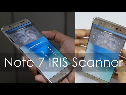 Samsung Note 7 IRIS Scanner Ka Demo & Features (Hindi)