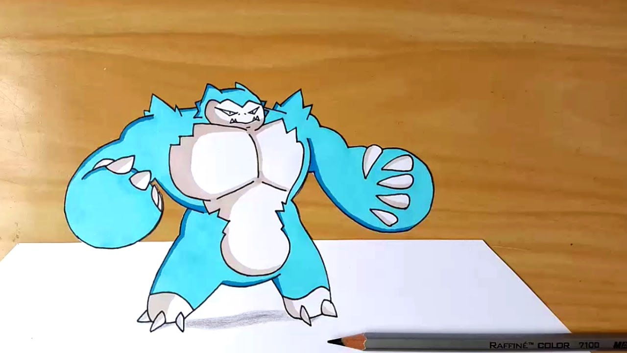 how to draw mega pokemon easy