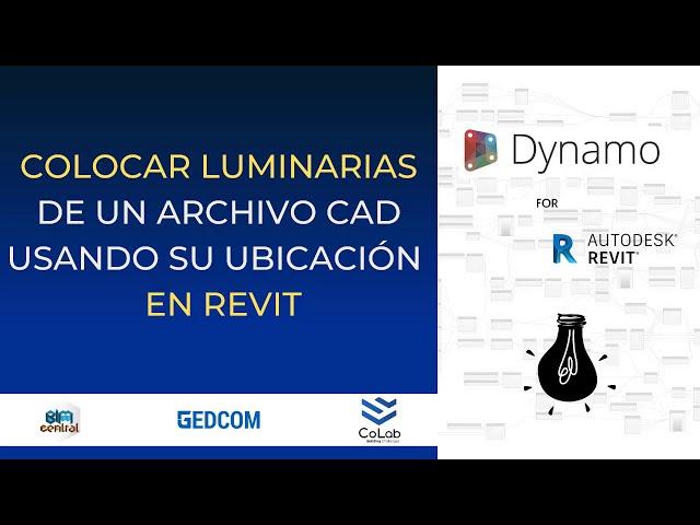 Colocación automatica de Luminaria en Revit con Dynamo | Demostración