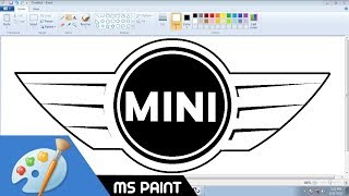 [Requested Video] Draw MINI COOPER (BMW) logo in MS Paint from Scratch!