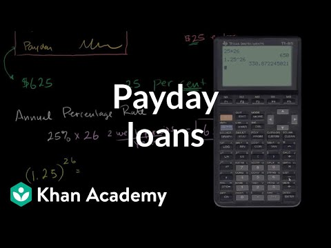 Payday Loans | Interest and debt | Finance & Capital Markets | Khan Academy