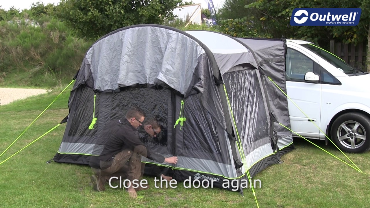 How To Pitch An Outwell Drive Away Awning With Rigid Air System