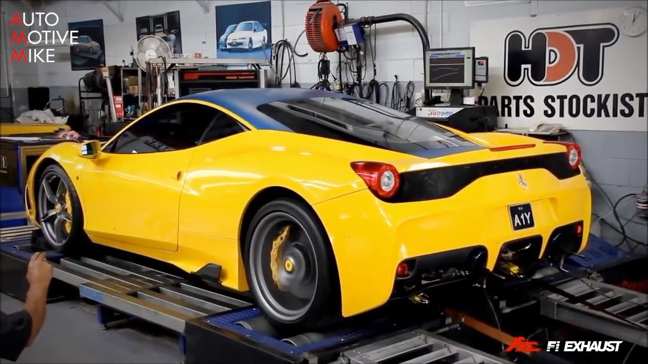 Ferrari 458 Speciale W Fi Exhaust Sound Test Youtube