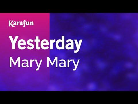 Karaoke Yesterday  Mary Mary *