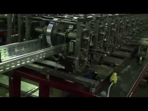 Автоматическая линия прокатки профиля кабельный лоток 100-400