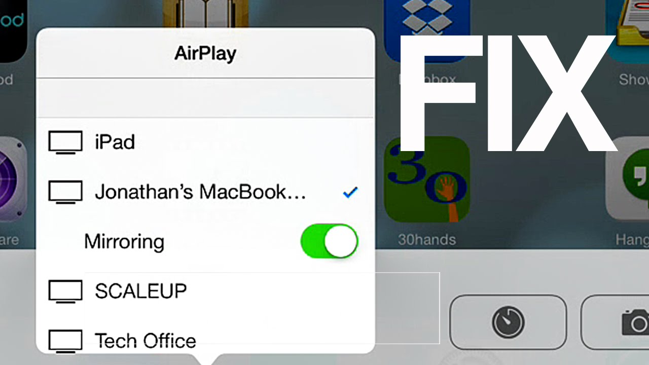 Airplay not working (mirror) in iOS 8 , how to FIX- iPhone iPad iPod apple  tv