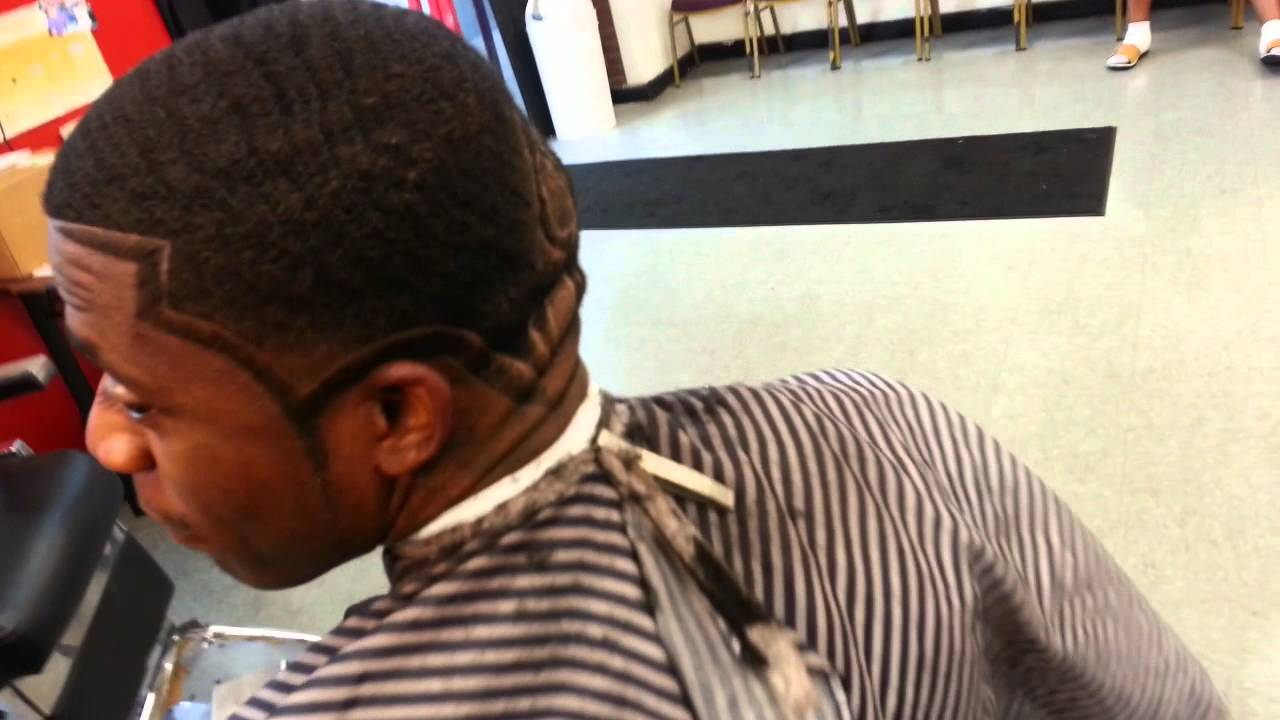 ken the barber design with double edge up haircut