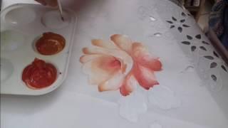 Pintura em Tecido – Aprenda pintar Rosas, Botões, Folhas e Acabamento