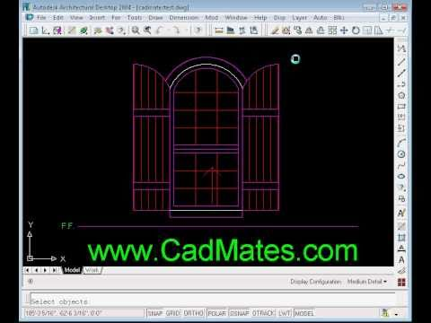 Elevation windows for autocad demo youtube for Window elevation