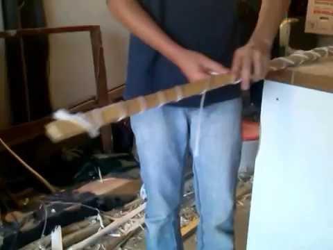 bambus holzleim bogen bauen 4 youtube. Black Bedroom Furniture Sets. Home Design Ideas