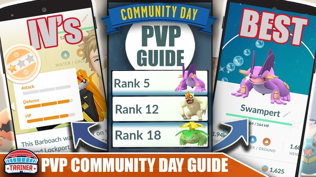 COMPLETE *PVP* COMMUNITY DAY GUIDE - BEST PVP RANKS, IV'S & MOVESETS |  POKÉMON GO