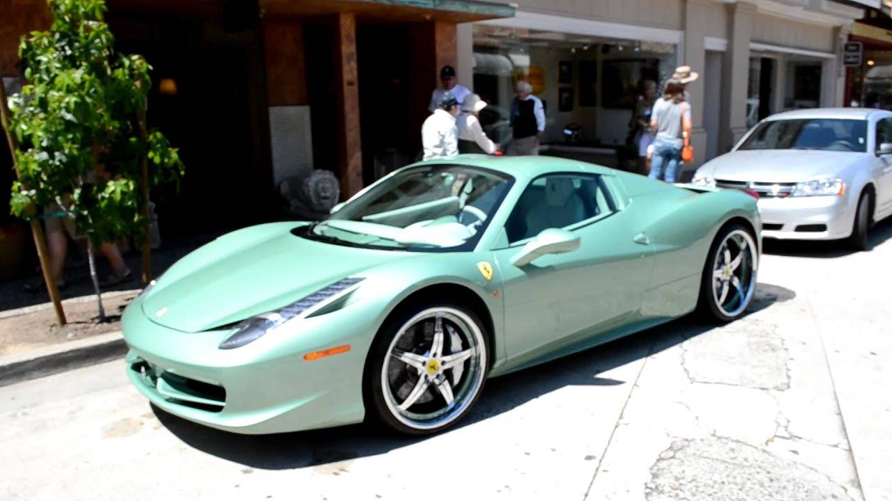 minty ferrari 458 spider hot or not - Ferrari 458 Spider Green
