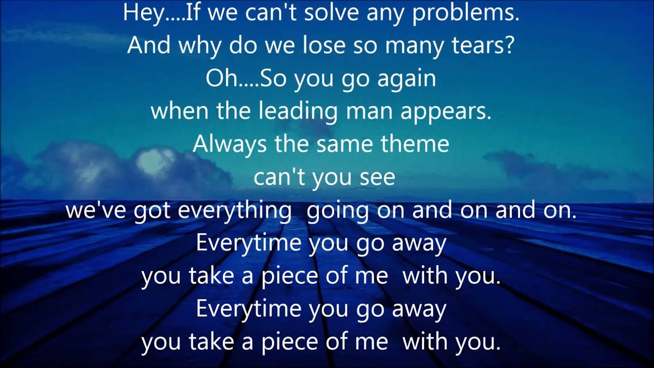 Songteksten.net - Vertaling: Paul Young - Everytime You Go ...