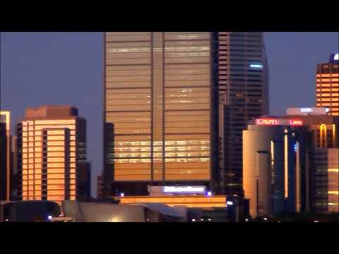 city of perth sunset panorama