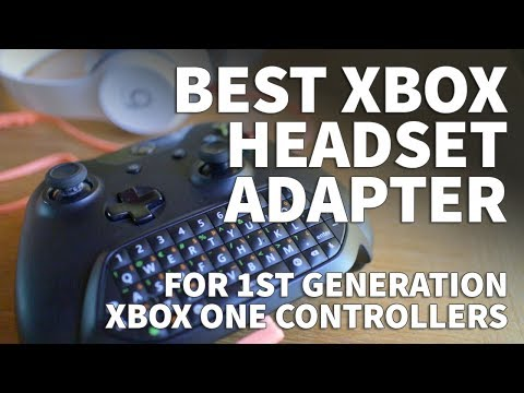 Xbox One Headset Adapter For First Generation Controllers Without A 3.5mm Headphone Jack