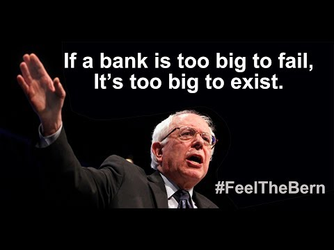 """Bernie Sanders """"Too Big To Fail"""" Is NO JOKE! This Is How The Economy Could Crash!!"""