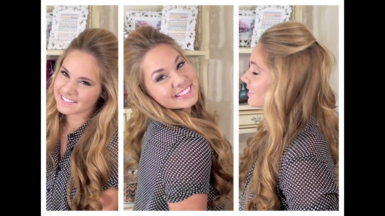 Relaxed But Glamorous Half Up Hair My Bridesmaid Hairstyles Youtube