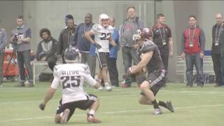 2017 cfl combine wr vs db 1 on 1