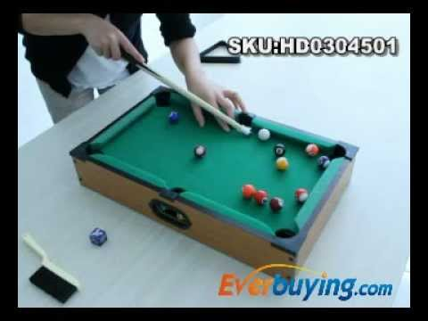 Mini Wooden Pool Billiard Table Everbuying.com