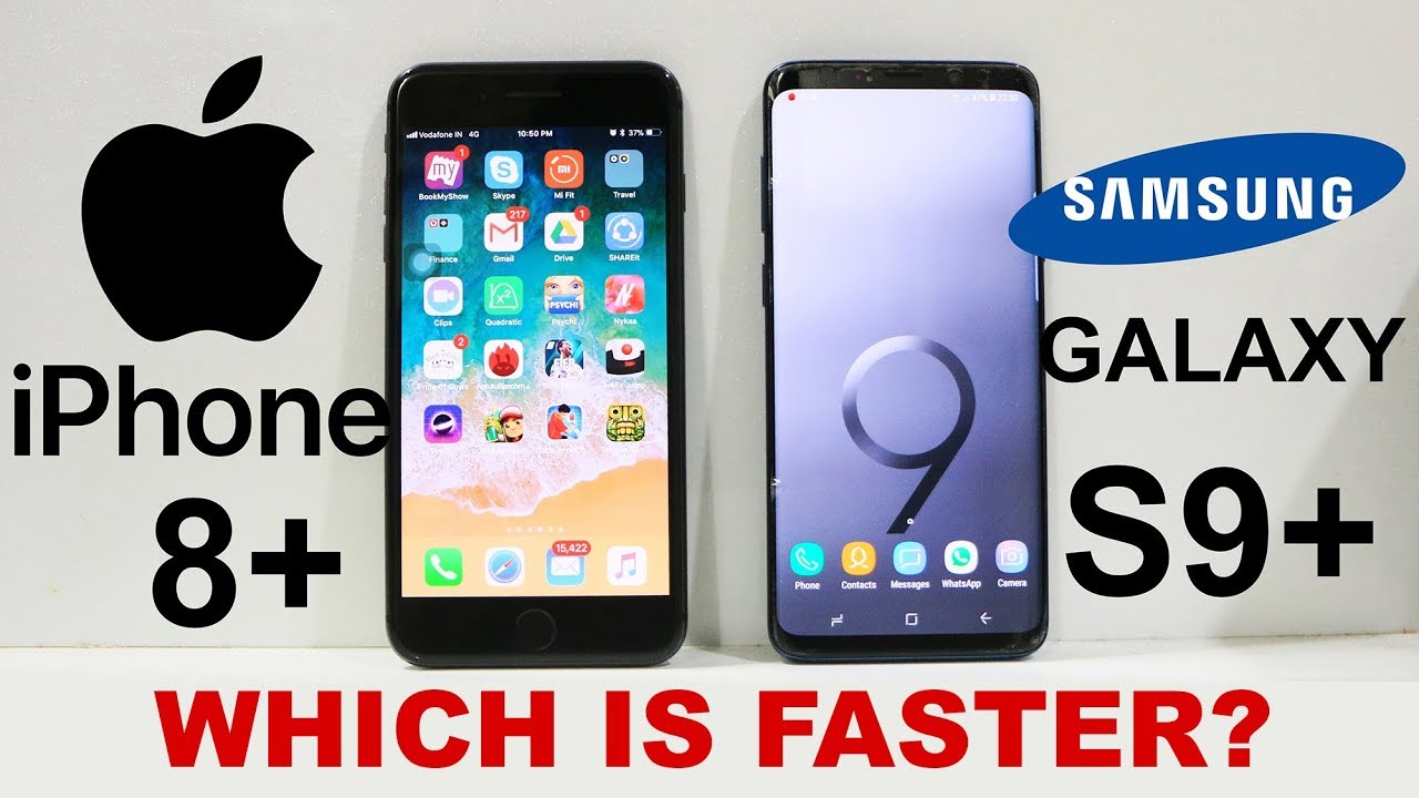 samsung s9+ vs iphone 8