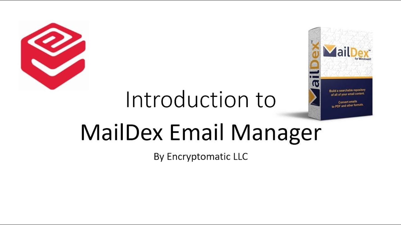 Encryptomatic MailDex email viewer software