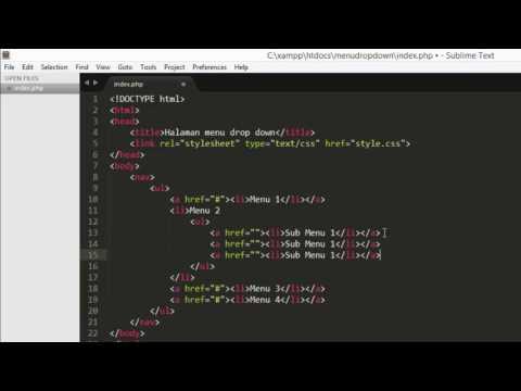 Tutorial Ke 5 dengan tema yaitu membuat menu dinamis dengan PHP. yang dimaksud dengan menu dinamis a.