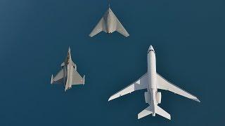 nEUROn, Rafale and Falcon 7X Formation Flight - World