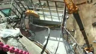 Демонтаж железобетонной трубы канатной пилой CEDIMA