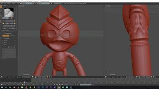3D sculpting the toornaq amo in Blender.
