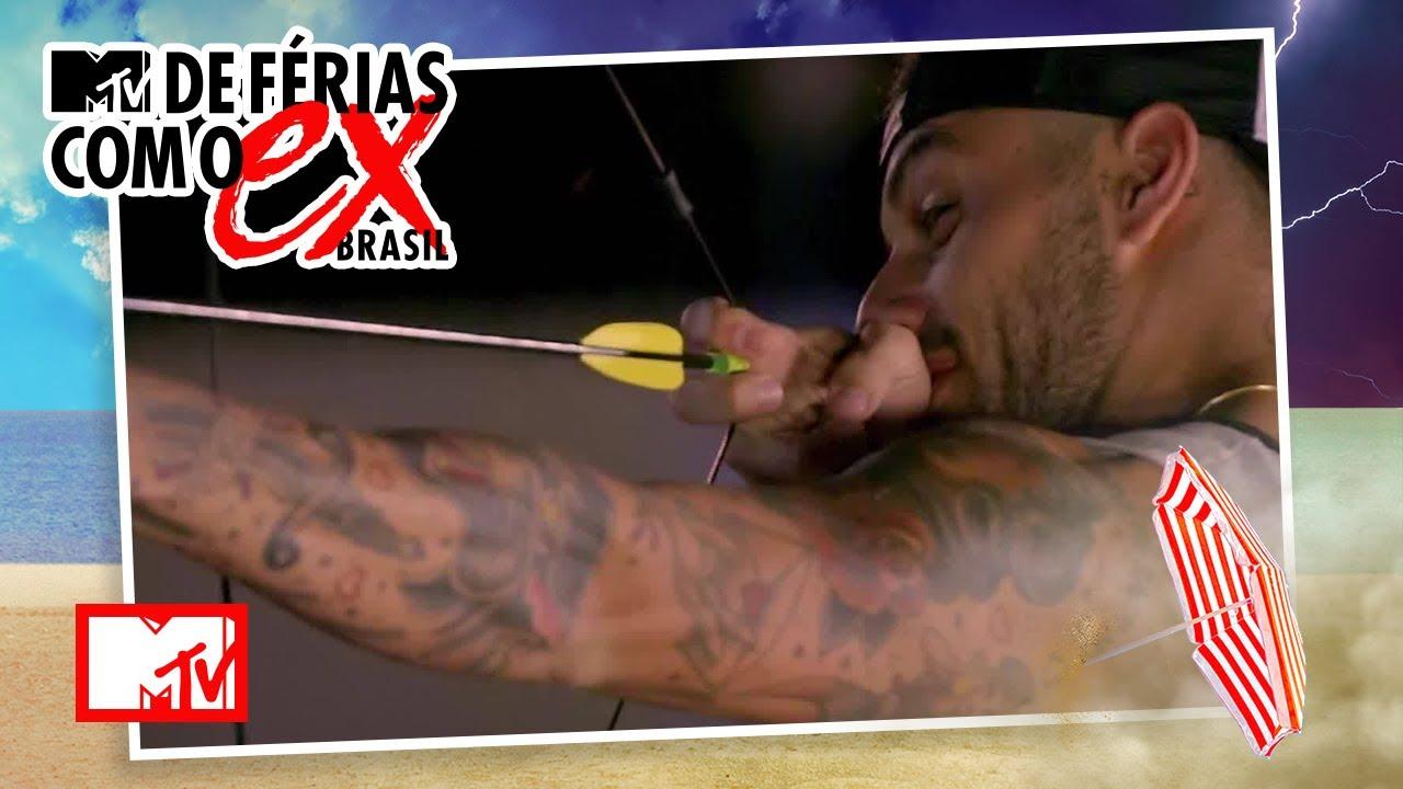 Será que o álcool vai atrapalhar a pontaria? | MTV De Férias Com O Ex Brasil T1