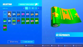 FORTNITE NEW ST PATRICK'S DAY REWARDS! SGT. GREEN CLOVER SKIN RETURNING! FORTNITE NEW LUCKY WRAP