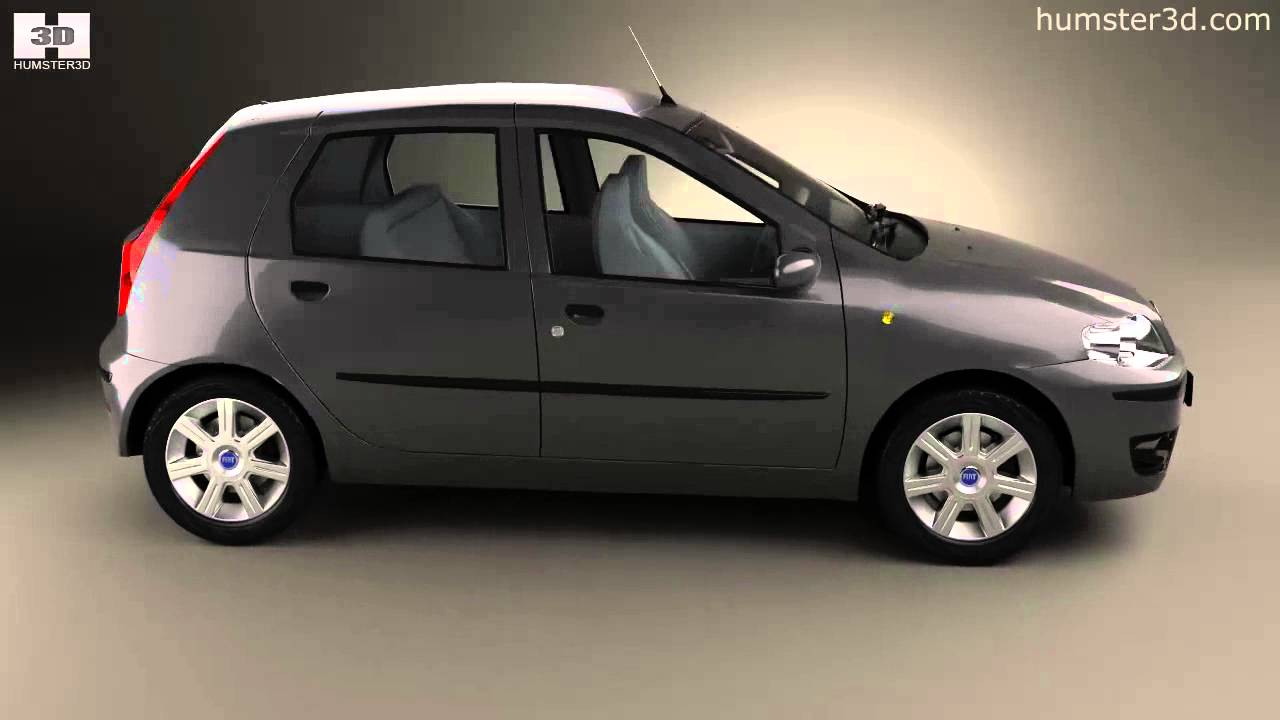 fiat punto 5 door 2003 by 3d model store youtube. Black Bedroom Furniture Sets. Home Design Ideas