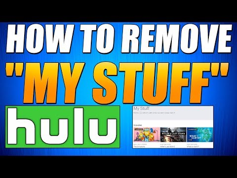 HOW TO REMOVE TV SHOWS FROM MY STUFF ON HULU - 3 Different Ways