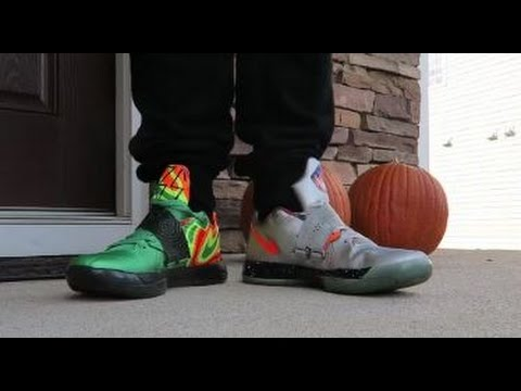 033f987f1f700d Nike KD 4 Galaxy VS Weatherman Sneaker Battle