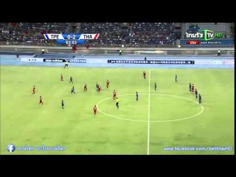 คลิปไฮไลท์ฟุตบอลโลกรอบคัดเลือก ไต้หวัน 0-2 ทีมชาติไทย Taiwan 0-2 Thailand