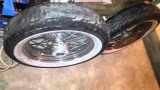"Fort Bragg Lemon Lot - HD 100th Anniversary Front Rim New Tire 16"" - Fort Bragg"