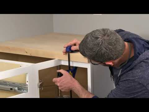 How To Install Butcher Block Countertops   DIY Kitchen Remodel