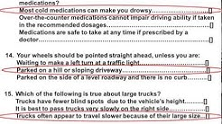 2017 DMV Test Permit Actual Test and Answers Part 4