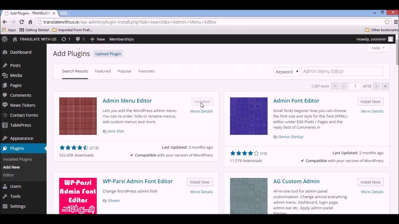 Admin_manage - Wordpress How To Manage Menu Item Visibility For Non Administrators With Admin Menu Editor Plugin
