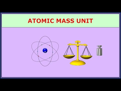 1.4.3 Atomic Mass Unit