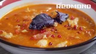 Мультиварка REDMOND 250. Рецепты для мультиварки # 32: Чечевичный суп с острой курицей