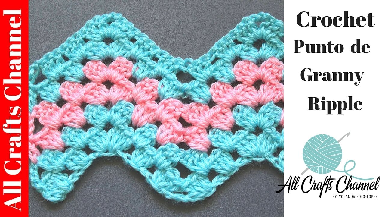 aprenda a tejer un patron de crochet granny ripple. Black Bedroom Furniture Sets. Home Design Ideas