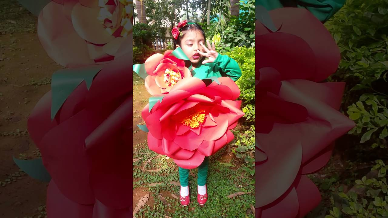 Fancy Dress Competition On Flower Aarya As Rose Flower Youtube