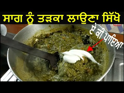 Sarson Da Saag  Dhaba, Restaurant, Hotel Style Tadka Saag Nu Tadka Jaanmahal Style Tadka Saag